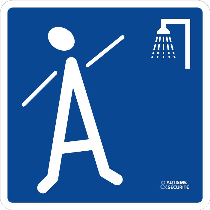 Pictogramme Autisme - Douche