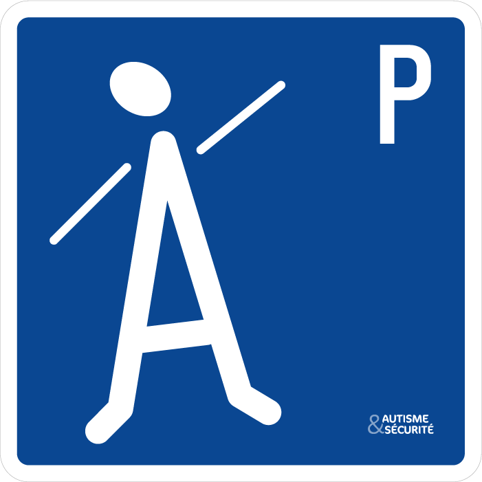 Pictogramme Autisme - Parking