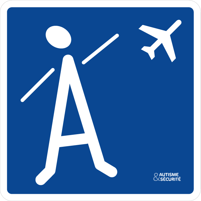 Pictogramme Autisme - Avion