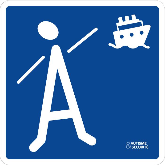 AUTISME-A-bateauaPictogramme Autisme - Bateau