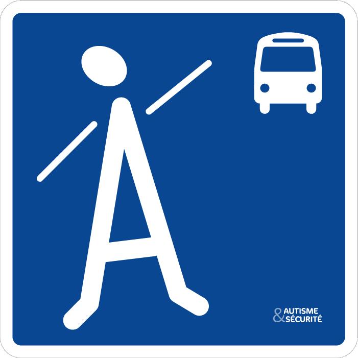 Pictogramme Autisme - Bus
