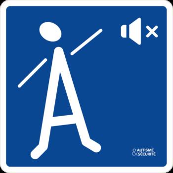 Pictogramme Autisme - Moins de bruit SVP