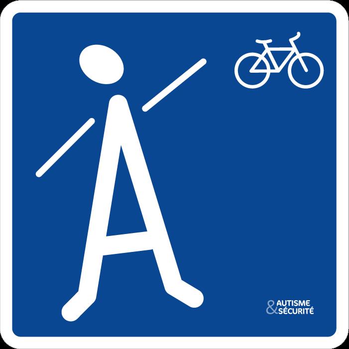 Pictogramme Autisme - Vélo